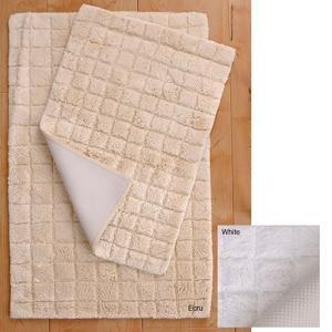 Park B. Smith 2 Piece Cotton Square Rug Set Ecru (Tan)
