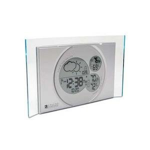 OREGON SCIENTIFIC Sleek Modern Weather Forecaster Clock Silver
