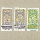 TRAM TROLLEYBUS TICKETS THREE FROM THE UKRAINIAN CITY OF LVIV