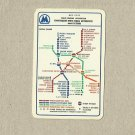 LENINGRAD SAINT PETERSBURG UNDERGROUND RAILWAY METRO MAP CALENDAR CARD 1986