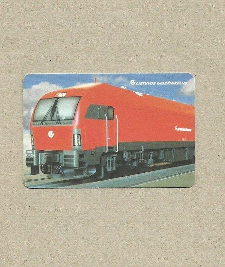 LITHUANIA RAILWAYS PROMOTIONAL ADVERTISING CALENDAR CARD 2008