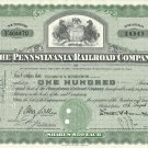 THE PENNSYLVANIA RAILROAD COMPANY ONE HUNDRED $50 SHARE CERTIFICATE 1951