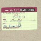 DALES RAILCARD ANNUAL SETTLE CARLISLE RAILWAY DISCOUNT CARD 2004