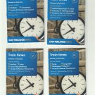 COLLECTION OF FOUR REGIONAL HUB LONDON ST PANCRAS INTERNATIONAL STATION TIMETABLES 2017