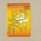 SAINT PETERSBURG RUSSIA UNDERGROUND RAILWAY METRO MAP CALENDAR CARD 2007