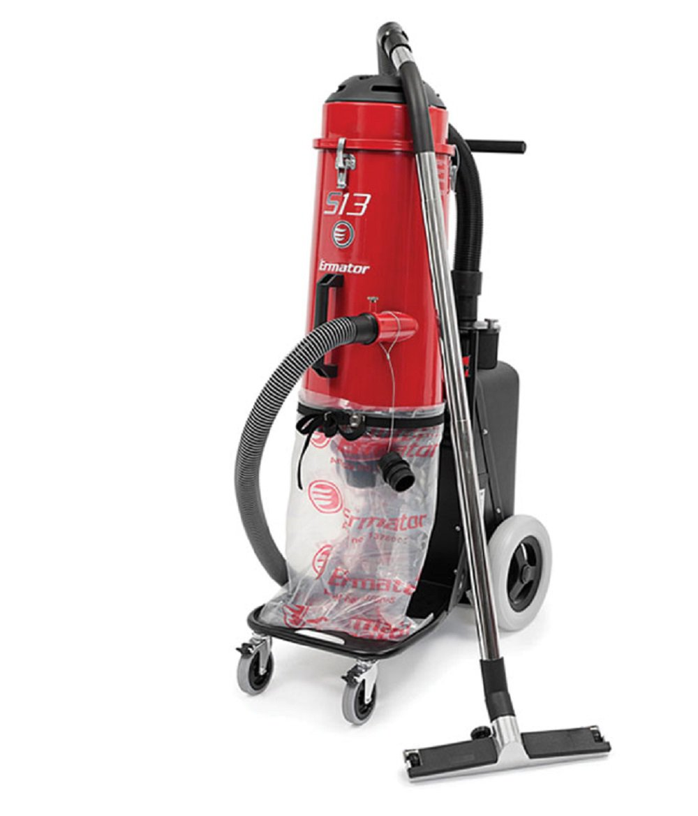 Ermator S13 HEPA Dust Extractor 120V Collector Vac for Concrete Grinder