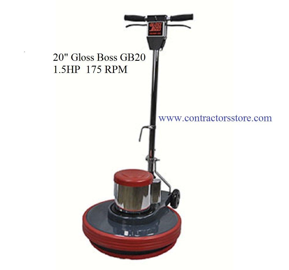 """Floor Machine 20"""" Gloss Boss GB20 1.5HP, 175 RPM"""
