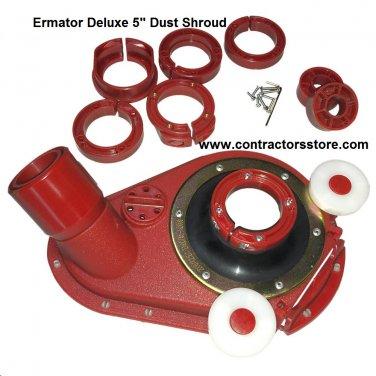 """Ermator 5"""" Deluxe Dust Shroud for Hand Grinder"""