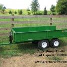 ATV DUMP TRAILER DT-2000 Load Capacity 2000 lbs