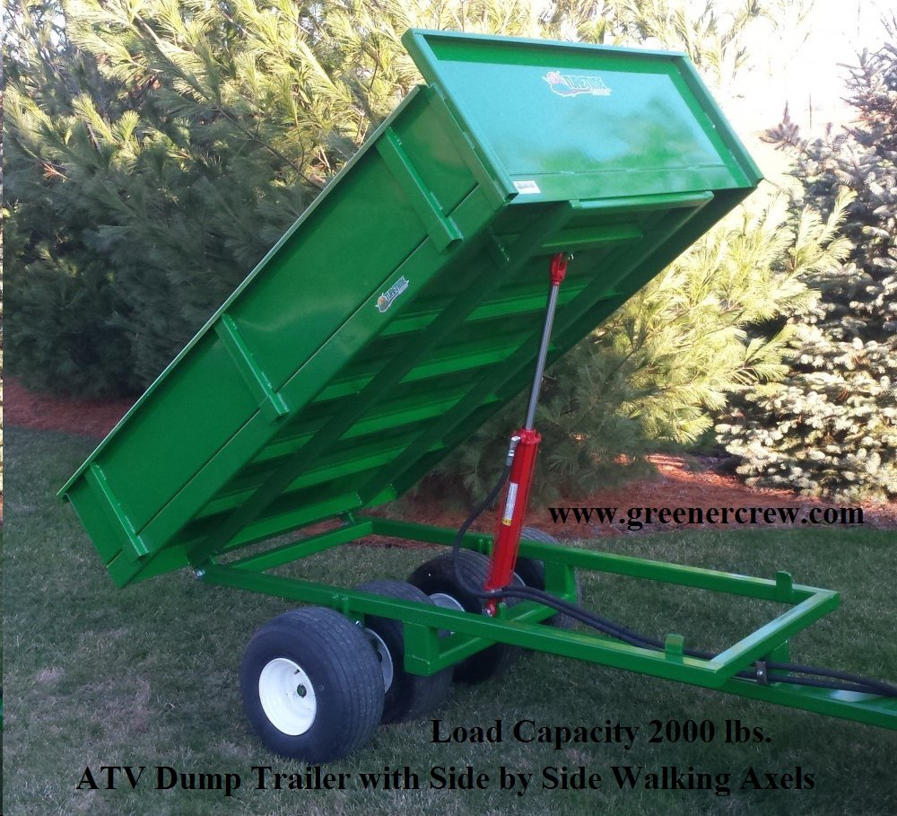 Electric over hydraulic lift atv dump trailer 2000 lbs for Side by side plans