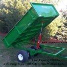 Electric Over Hydraulic Lift ATV Dump Trailer 2000 lbs Load Capacity