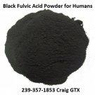 Organic Black Fulvic Acid Powder for Humans 5 lbs