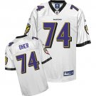 Michael Oher #74 White Jersey #BR024