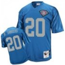 Barry Sanders #20 Blue Throwback Jersey w/75 Patch #DL003