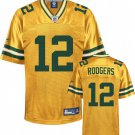 Aaron rodgers #12 Yellow Jersey #GB021