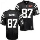 Reggie Wayne #87 Black Jersey w/Super Bowl Patch #IC005