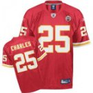Jamaal Charles #25 Red Jersey #KC012