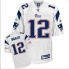 Tom Brady #12 White Jersey #PAT003