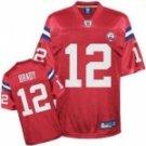 Tom Brady #12 Red Jersey w/AFL 50th Patch #PAT004