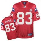 Wes Welker #83 Red Jersey w/AFL 50th Patch #PAT015