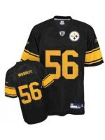 LaMarr Woodley #56 Black Jersey w/Yellow Numbers #PS030