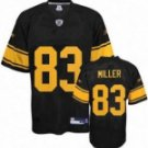 Heath Miller #83 Black Jersey w/Yellow Numbers #PS040