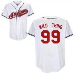 "Rick ""Wild Thing"" Vaughn #99 White Jersey #CI004"