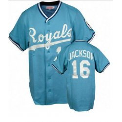 Bo Jackson #16 Light Blue Throwback Jersey #KC002