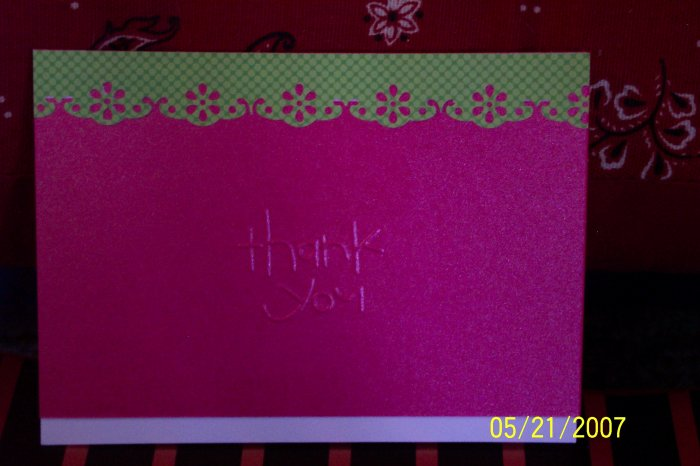Embossed Summer Thank You Card