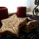 Handmade Star-Shaped Wooden Jewelry Box with Custom Art