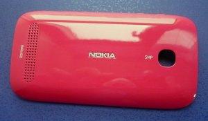 Original Fuchsia Battery Housing Back Cover Case + NFC Chip For Nokia 603