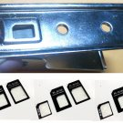 Micro SIM & Full SIM to Nano SIM Card Cutter for iphone 5 plus 3 sets adapters B