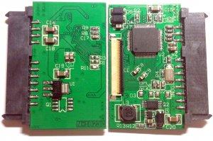 """40PIN Convert Adapter Half Slim SATA 22PIN SSD 3.3V SSD to 1.8"""" CE/ZIF PATA"""