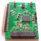 "Convert Adapter for PCI-E MSATA SSD 50MM 3.3V to 2.5"" IDE 5V 44PIN SSD"