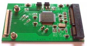 "50mm New 1.8"" CE/ZIF PATA SSD convert Adapter for PCI-E MSATA SSD 3.3V"