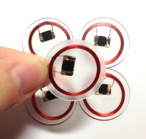 Lot of 10 NFC Sticker/Adhesive Label/Tag RFID IC 13.56MHz ISO14443A Mifare 1k S50 Coin 25mm diamete