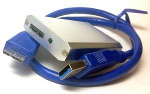 50mm Mini PCI-E mSATA SSD External Harddisk HDD Enclosure Drive Case USB 3.0 2.0