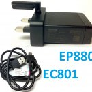 Original Sony EP880 USB Quick Charger UK Plug + EC801 Charge Data Cable Xperia