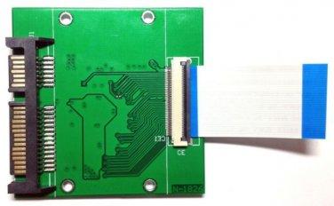 "40pin 1.8"" CE / ZIF SSD HDD Convert to 22pin SATA Adapter Card Converter"