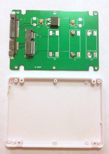 """Card slot 50mm Mini PCI-E mSATA SSD adapter to 2.5"""" 3.5"""" SATA Enclosure Case"""
