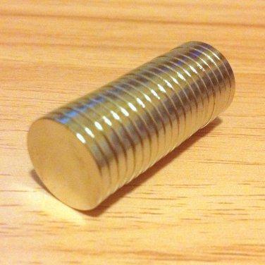 "20 pcs N52 cylinder 15x2mm Neodymium Permanent Magnets Craft 3/5""*2/25"""
