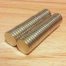 50 pcs N52 disc 10mm*2mm neodymium permanent strong magnets craft 2/5'*2/25""