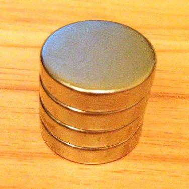 4 pcs/lot N52 disc 20mm*5mm Neodymium Permanent Magnets rare earth Craft
