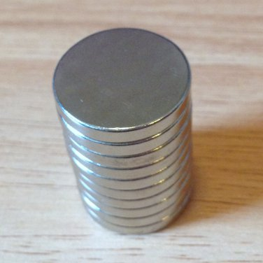 "10 pcs N52 cylinder 20x3mm Neodymium Permanent Magnets Craft 3/4""*1/8"""