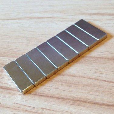 8pcs grade N52 Neodymium permanent Magnets 30mm*10mm*4mm craft