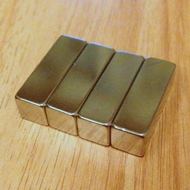 4pcs grade N52 Neodymium permanent Magnets 30mm*10mm*10mm craft