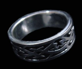 Intersecting Design Sterling Silver Ring