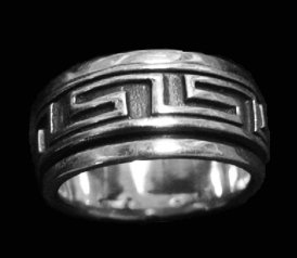 Spin Band Design Sterling Silver Ring