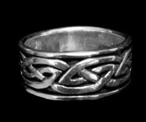 Interlinking Celtic Design Sterling Silver Ring