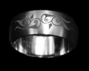 Detail Sterling Silver Ring Band